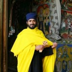 Priest in yellow